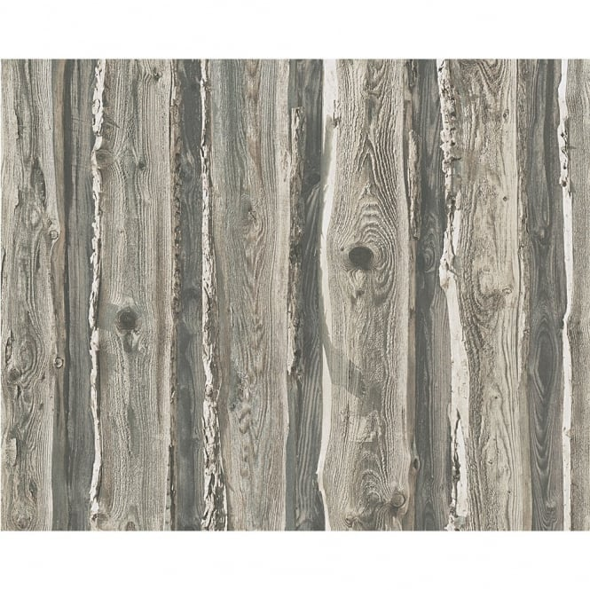 A.S. Creation AS Creation Wood Beam Panel Pattern Faux Effect Tree Textured Wallpaper 958372