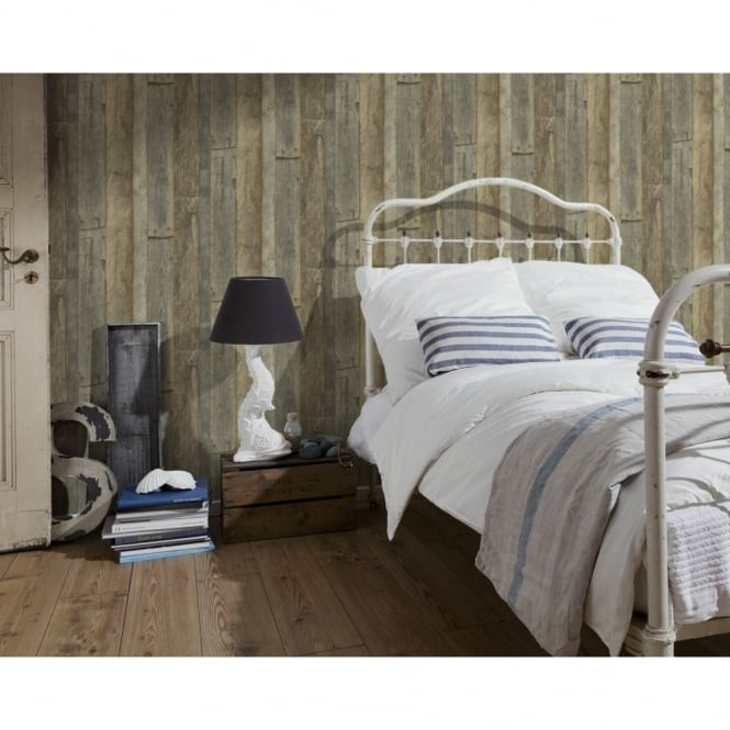 A.S. Creation AS Creation Wood Beam Pattern Faux Effect Textured Non Woven Wallpaper 959313