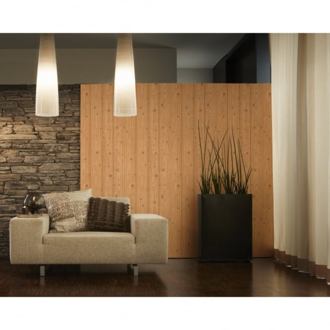 A.S. Creation AS Creation Wood Panel Pattern Faux Effect Textured Mural Wallpaper 577924