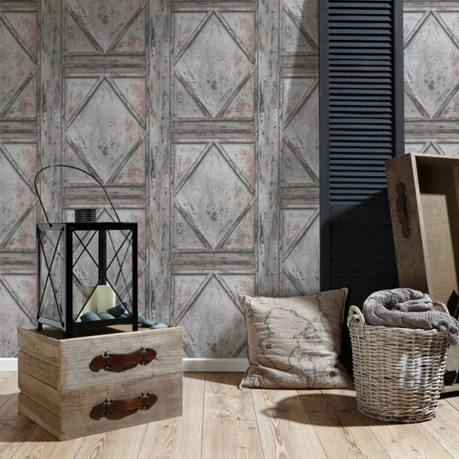 A.S. Creation AS Creation Wood Panel Pattern Wallpaper Garden Faux Effect Realistic Embossed 307522