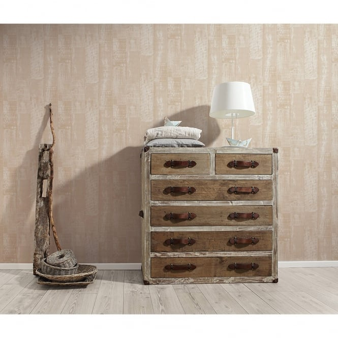 A.S. Creation AS Creation Wooden Beam Faux Effect Wood Panel Pattern Wallpaper 961523