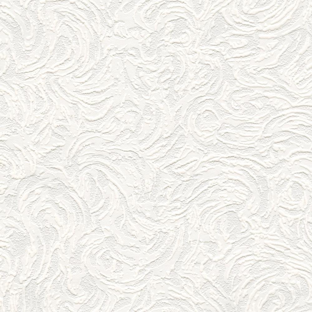 Belgravia richmond swirl pattern paintable embossed for Cheap white wallpaper