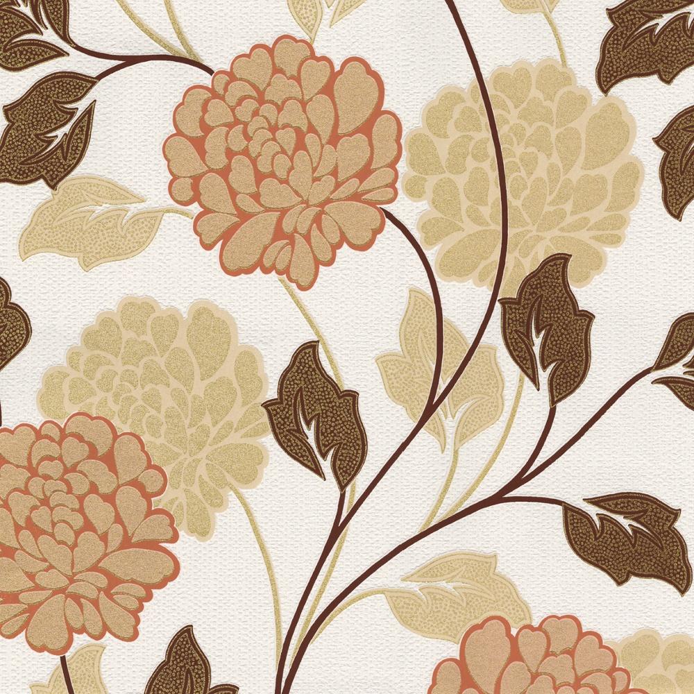 Belgravia Dahlia Flower Pattern Floral Motif Textured