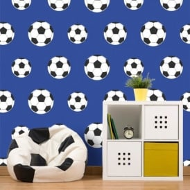 Belgravia Moda Childrens Football Pattern Goal Soccer Sports Wallpaper 9721