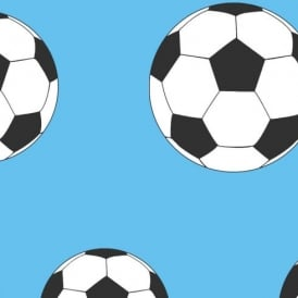 Belgravia Moda Childrens Football Pattern Goal Soccer Sports Wallpaper 9722