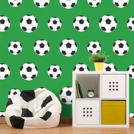 Belgravia Moda Childrens Football Pattern Goal Soccer Sports Wallpaper 9723