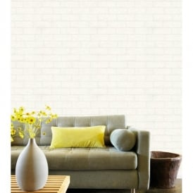 Belgravia Richmond Brick Pattern Paintable Embossed Vinyl Wallpaper 5831