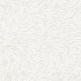 Belgravia Richmond Swirl Pattern Paintable Embossed Vinyl Wallpaper 5806