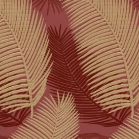 Belgravia Royal Palm Leaf Pattern Floral Motif Glitter Textured Wallpaper 57001
