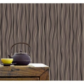 Belgravia Velvet Ribbons Wave Stripe Pattern Glitter Textured Wallpaper 57005