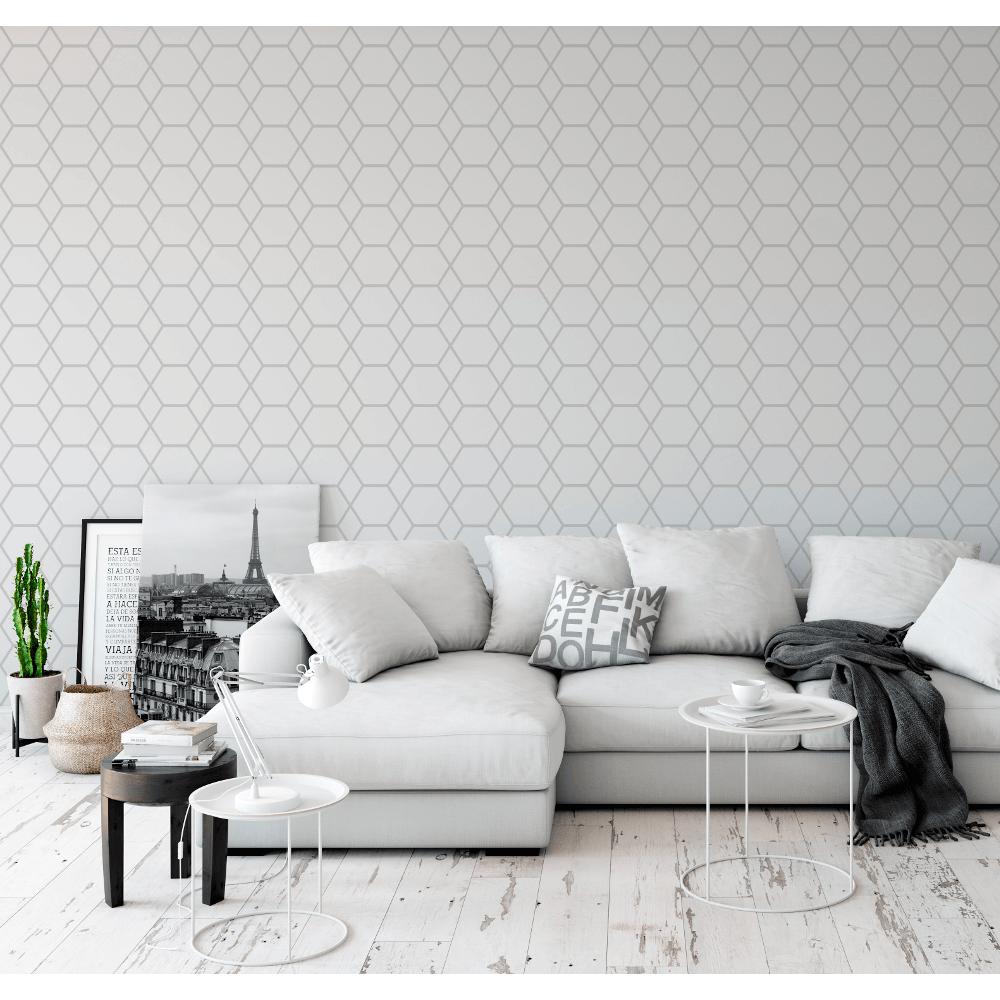 Muriva Casca Metallic Shimmer Geometric Smooth 3d Effect Modern Wallpaper 147501
