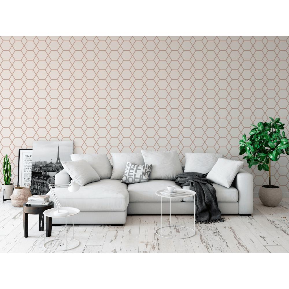 Casca Metallic Shimmer Geometric Smooth 3D Effect Modern Wallpaper 147504