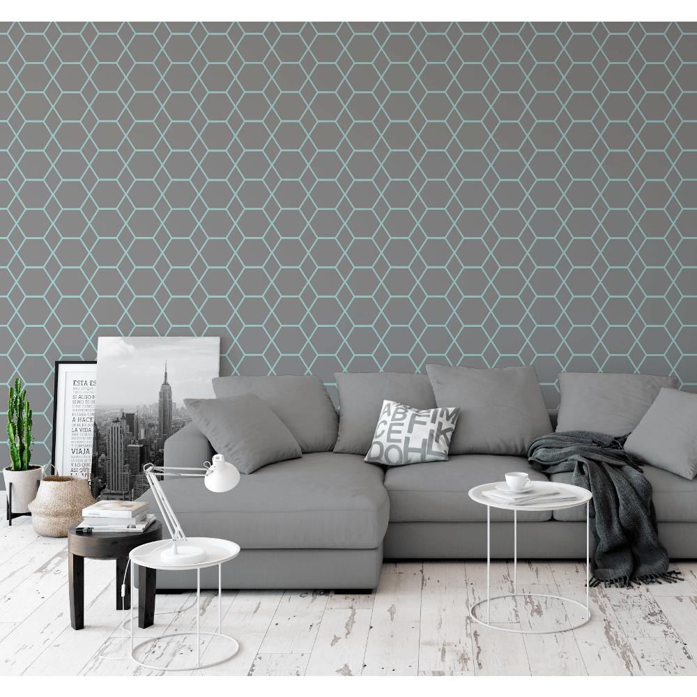 Casca Metallic Shimmer Geometric Smooth 3d Effect Modern Wallpaper 147505