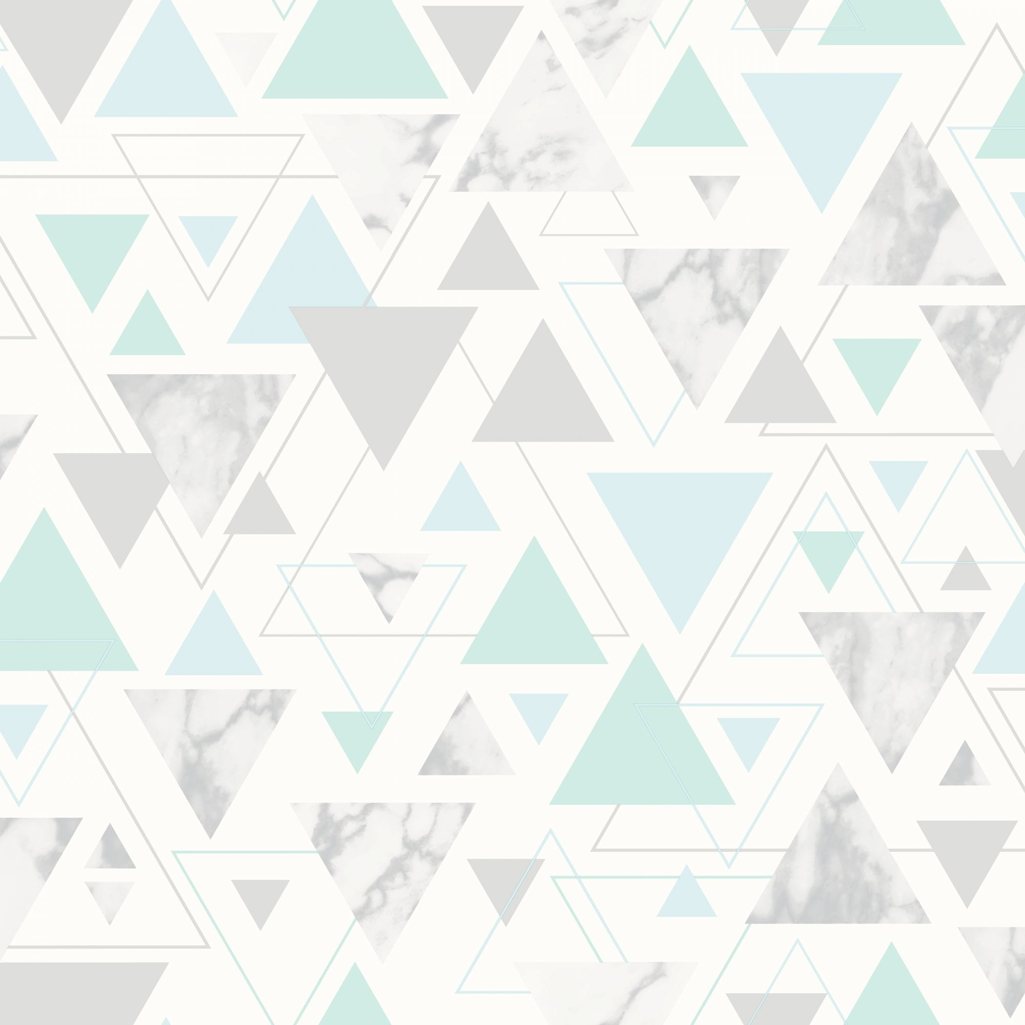 Debona Chantilly Triangle Geo Smooth Modern Marble Pastel Colour Metallic Wallpaper 5015