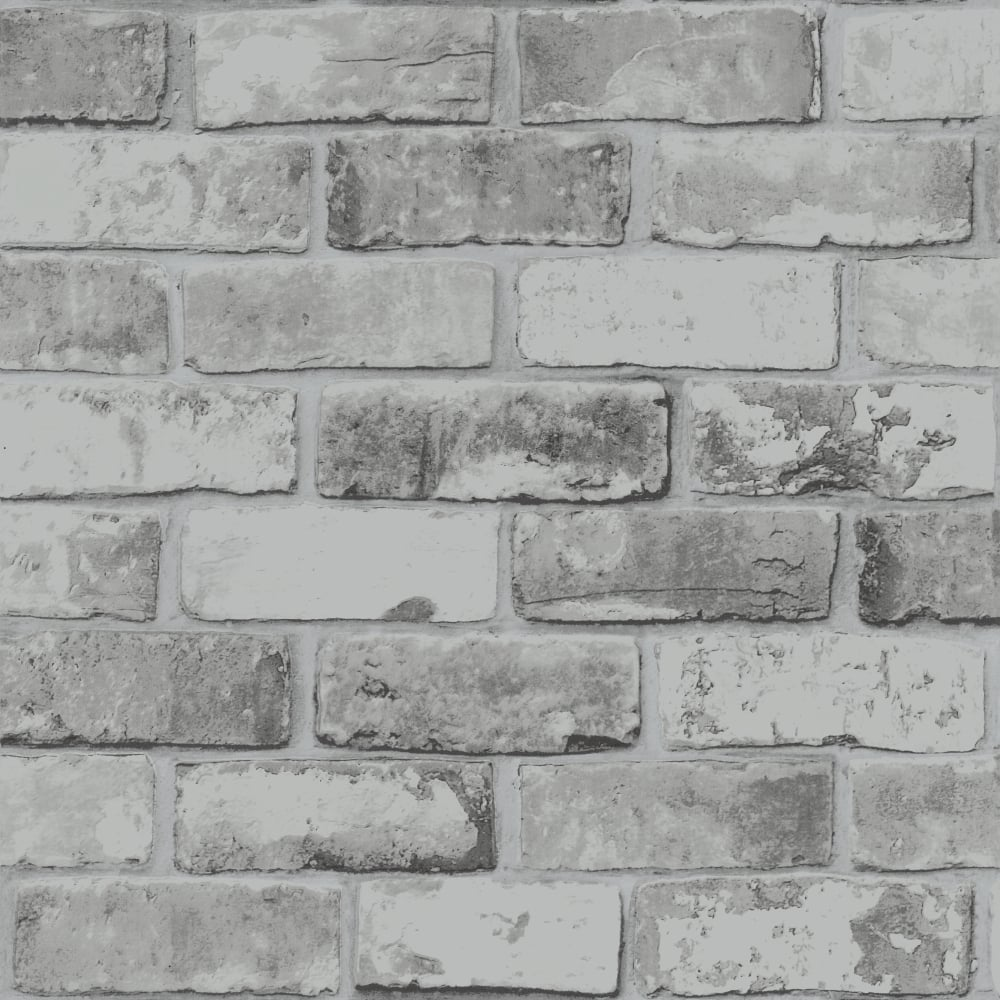 Brick Pattern Wallpaper Modern Metallic Motif Faux Effect Realistic 6753