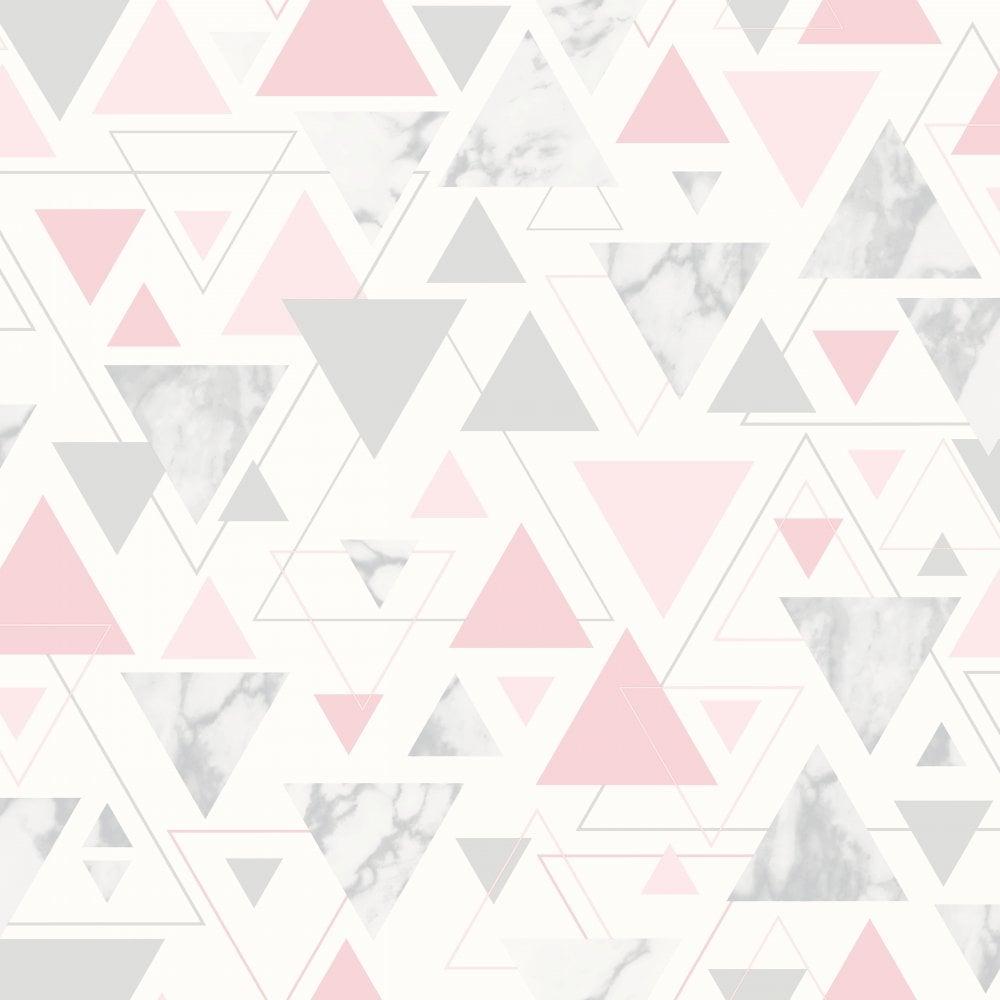Debona Chantilly Triangle Geo Smooth Modern Marble Pastel
