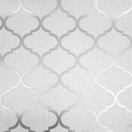 Debona Ariana Geometric Glitter Trellis Dimaond Lattice Wallpaper Black 2488