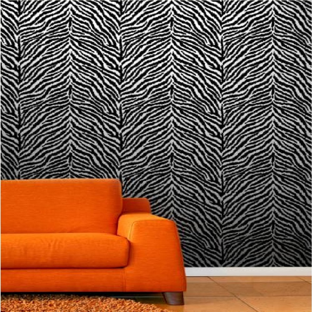 Zebra Print Wallpaper For Bedrooms   Photo#2 Pictures Gallery