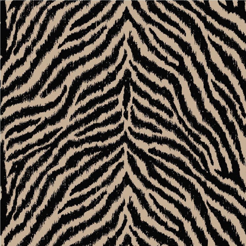 Zebra patterned wallpaper - Debona Masai Zebra Print Wallpaper 6162
