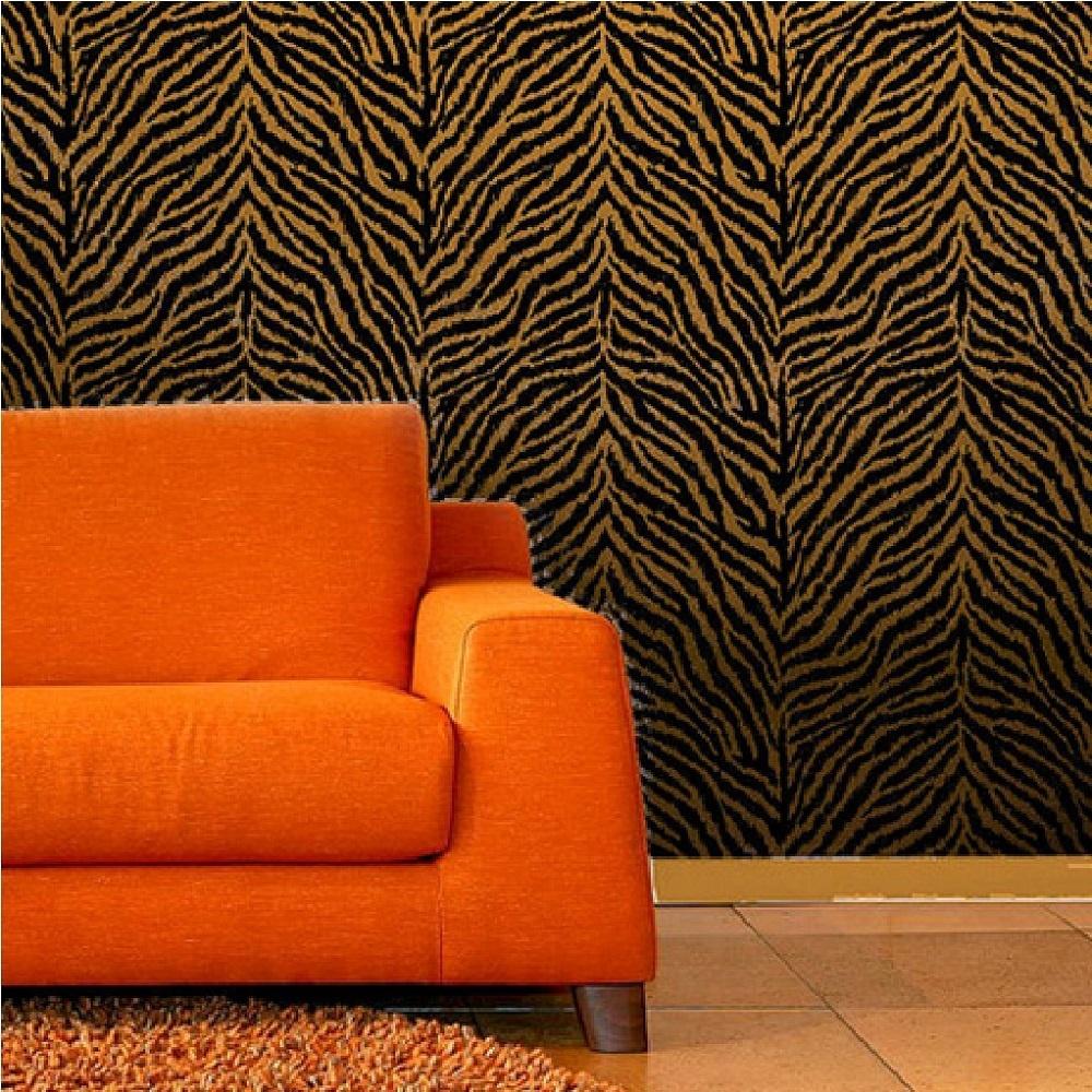 Debona papel pintado beis rayas de cebra negras animal for Papel pintado cebra