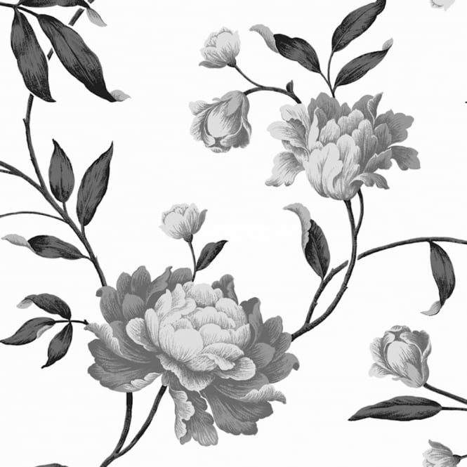Debona Georgina Floral Trail Leaf Rose 10m Wallpaper Roll 14852