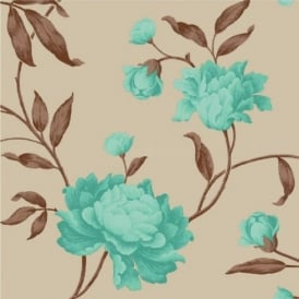 Debona Georgina Floral Trail Leaf Rose 10m Wallpaper Roll 14855
