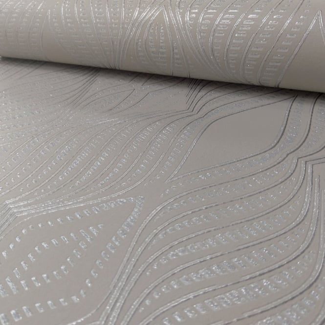 Debona Jewel Diamond Stripe Pattern Wallpaper Silver Metallic Glitter Embossed 2471