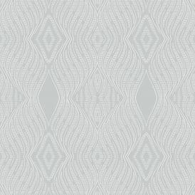 Arthouse Palazzo Stripe Platinum Wallpaper 290503 Italian Metallic