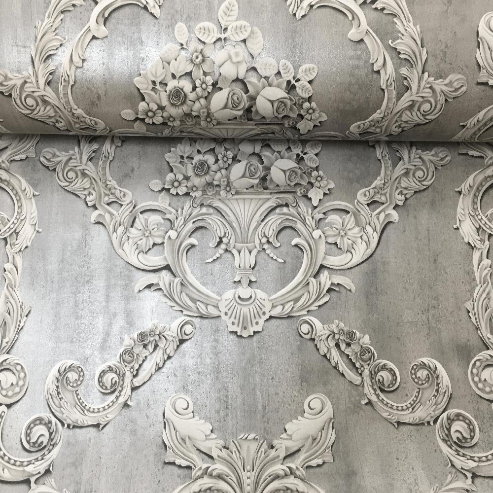 Debona Luxury Damask 3D Effect Floral Leaf Trail Motif Victorian Pattern Wallpaper 6217