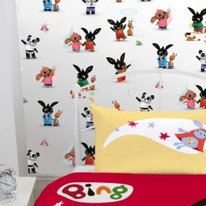 Official Bing Bunny Childrens Wallpaper Cartoon Rabbit CBeebies WP4-BIN-BUN-12