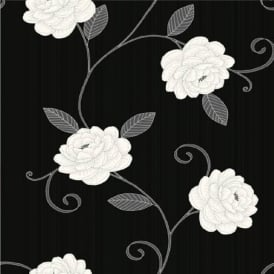 Puccini Floral Trail Metallic Leaf Highlights Flower Motif Wallpaper 5568