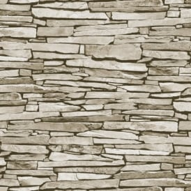 Debona Slate Pattern Realistic Faux Effect Stone Photo Wallpaper 1275