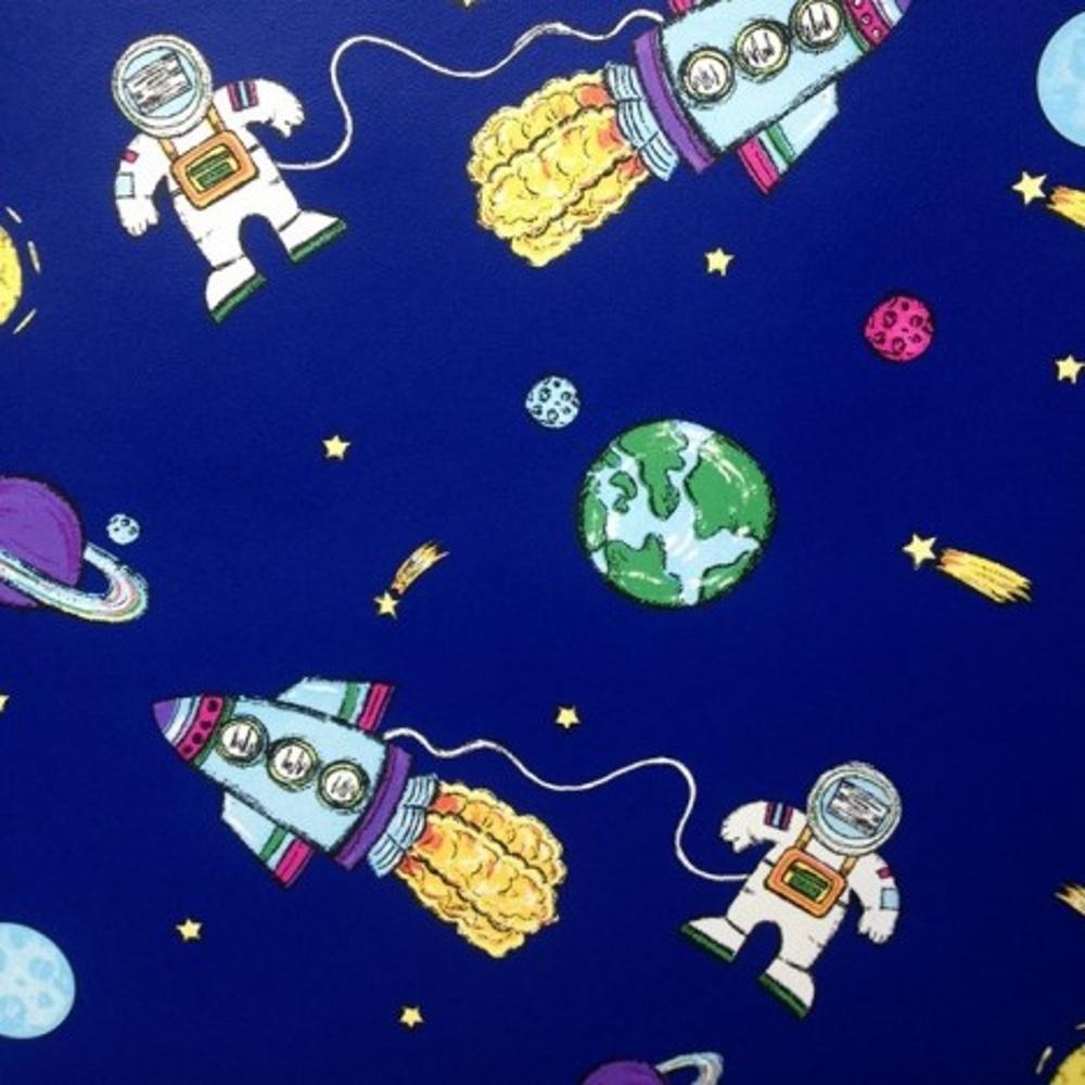 Debona Space Blue Spaceman Rocket Planets Childrens