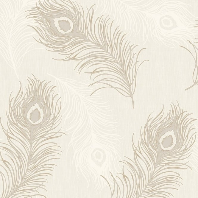 Debona Viola Feather Pattern Glitter Motif Bird Textured Vinyl Wallpaper 40913
