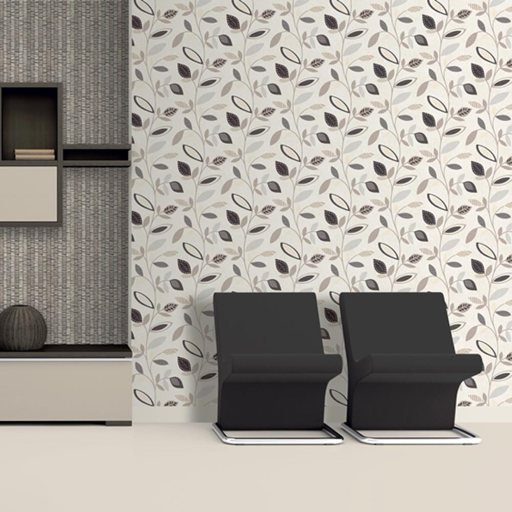 Direct Pavilion Floral Leaf Pattern Flower Motif Wallpaper