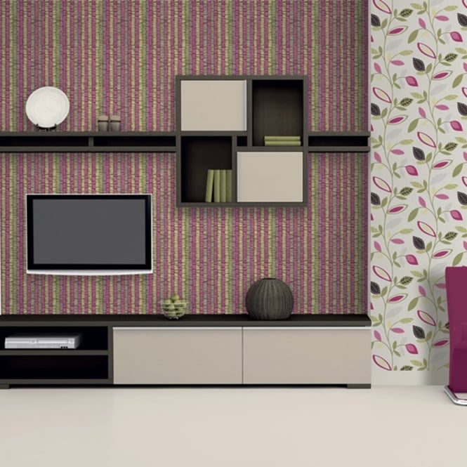 Direct Wallpapers Direct Pavilion Stripe Bar Motif Striped Pattern Metallic Aztec Wallpaper E80103