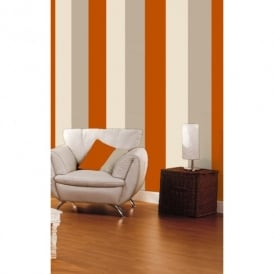 Direct Stripe 3 Colour Striped Motif Textured Designer Vinyl Wallpaper E40915