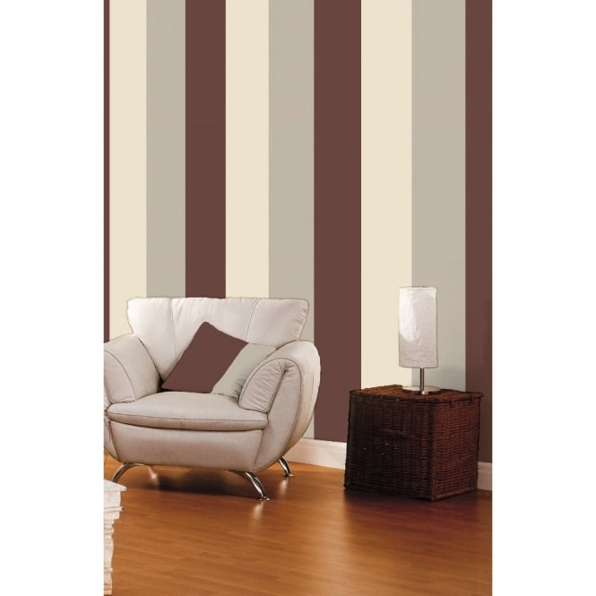 Direct Wallpapers Direct Stripe 3 Colour Striped Motif Textured Designer Vinyl Wallpaper E40928