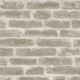 Decorpassion Rustic Brick Effect Wallpaper J34407