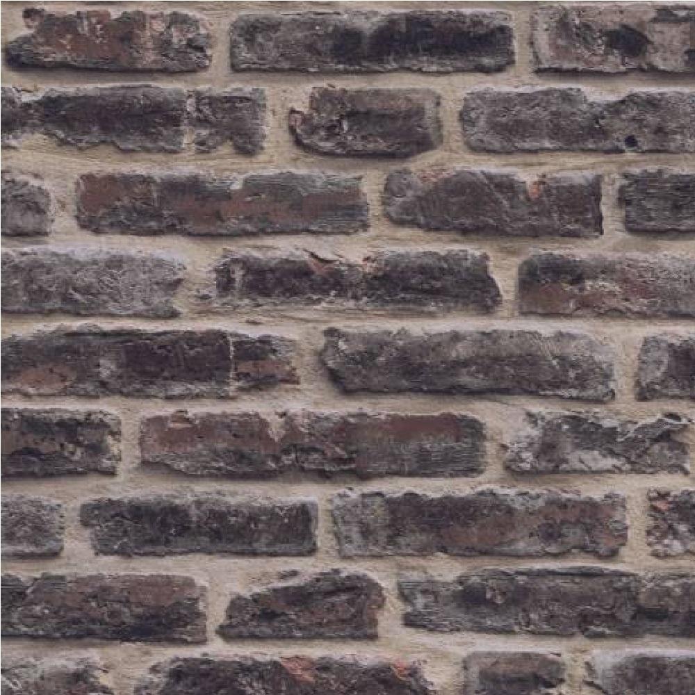 Decorpassion Rustic Brick Effect Textured Vinyl Wallpaper