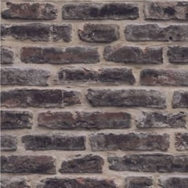 Decorpassion Rustic Brick Effect Wallpaper J34408
