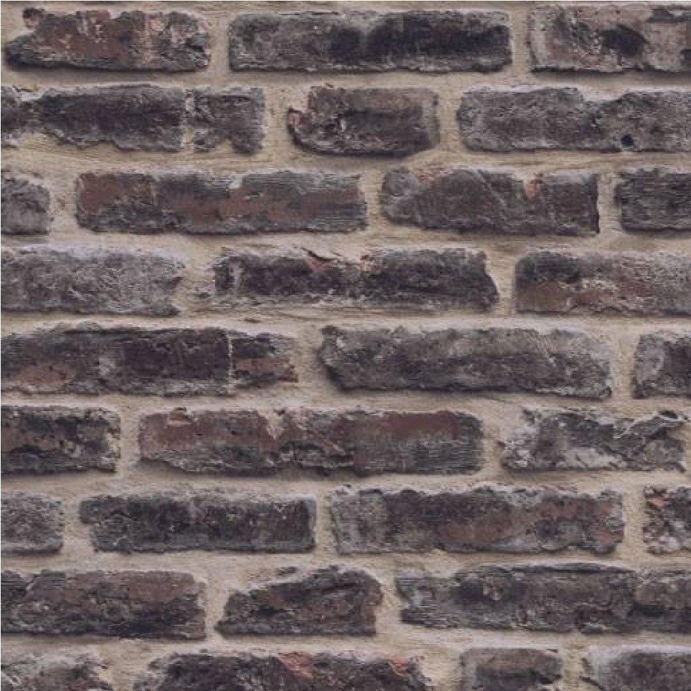 Decorpassion Rustic Brick Effect Textured Vinyl Wallpaper ...