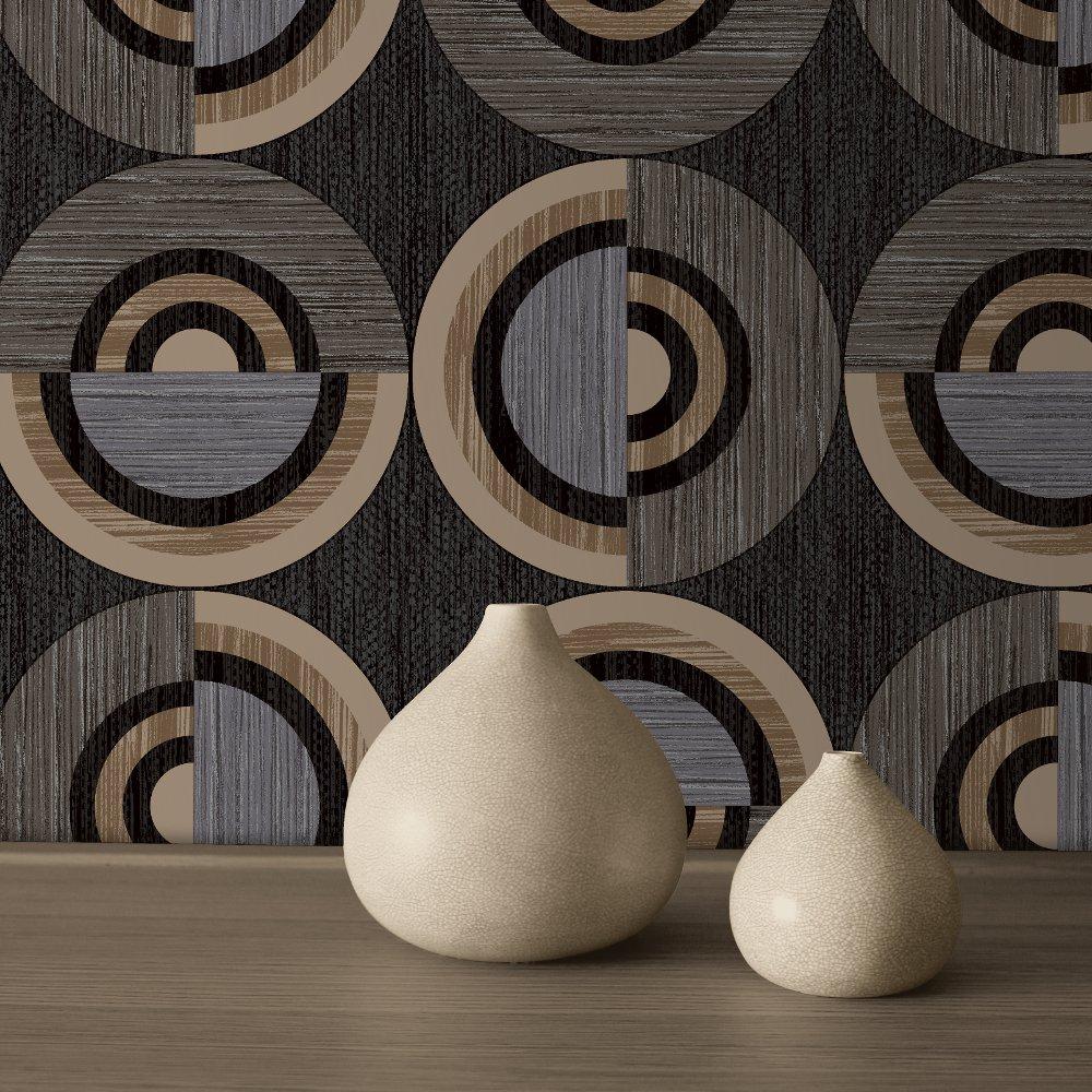 Direct Circle Eton Circles Textured Blown Vinyl Wallpaper