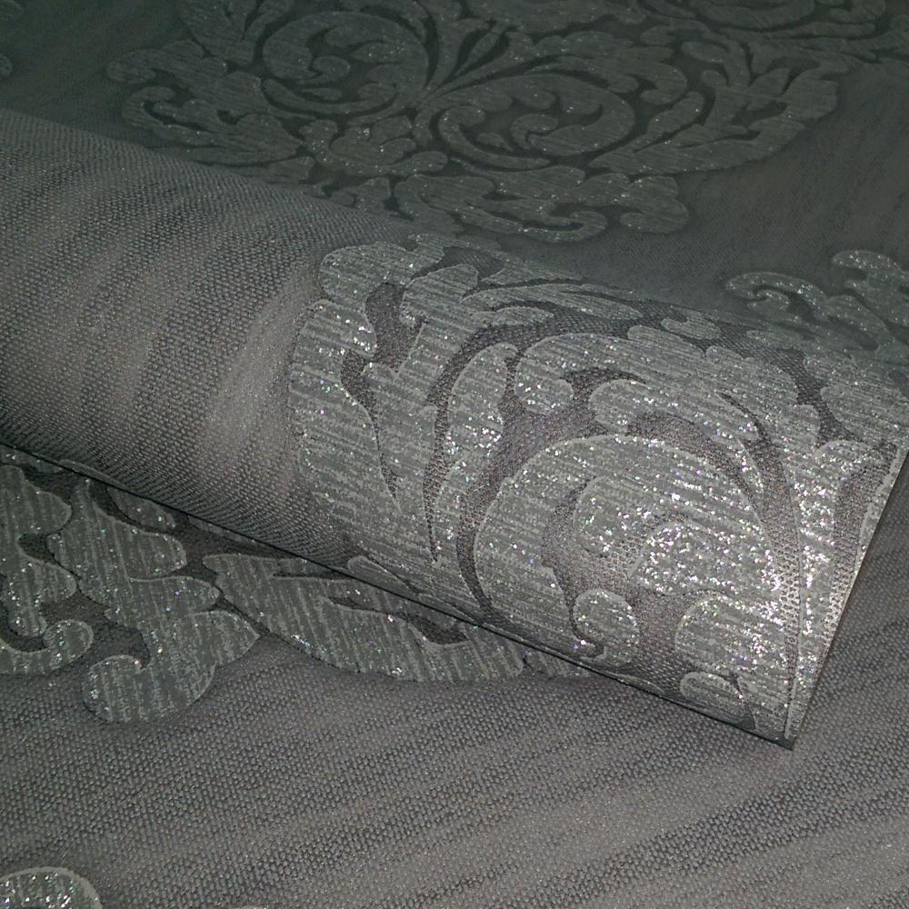 Direct Damask Motif Pattern Glitter Textured Vinyl