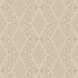 Direct Diamond Motif Striped Pattern Glitter Textured Blown Vinyl Wallpaper J47217