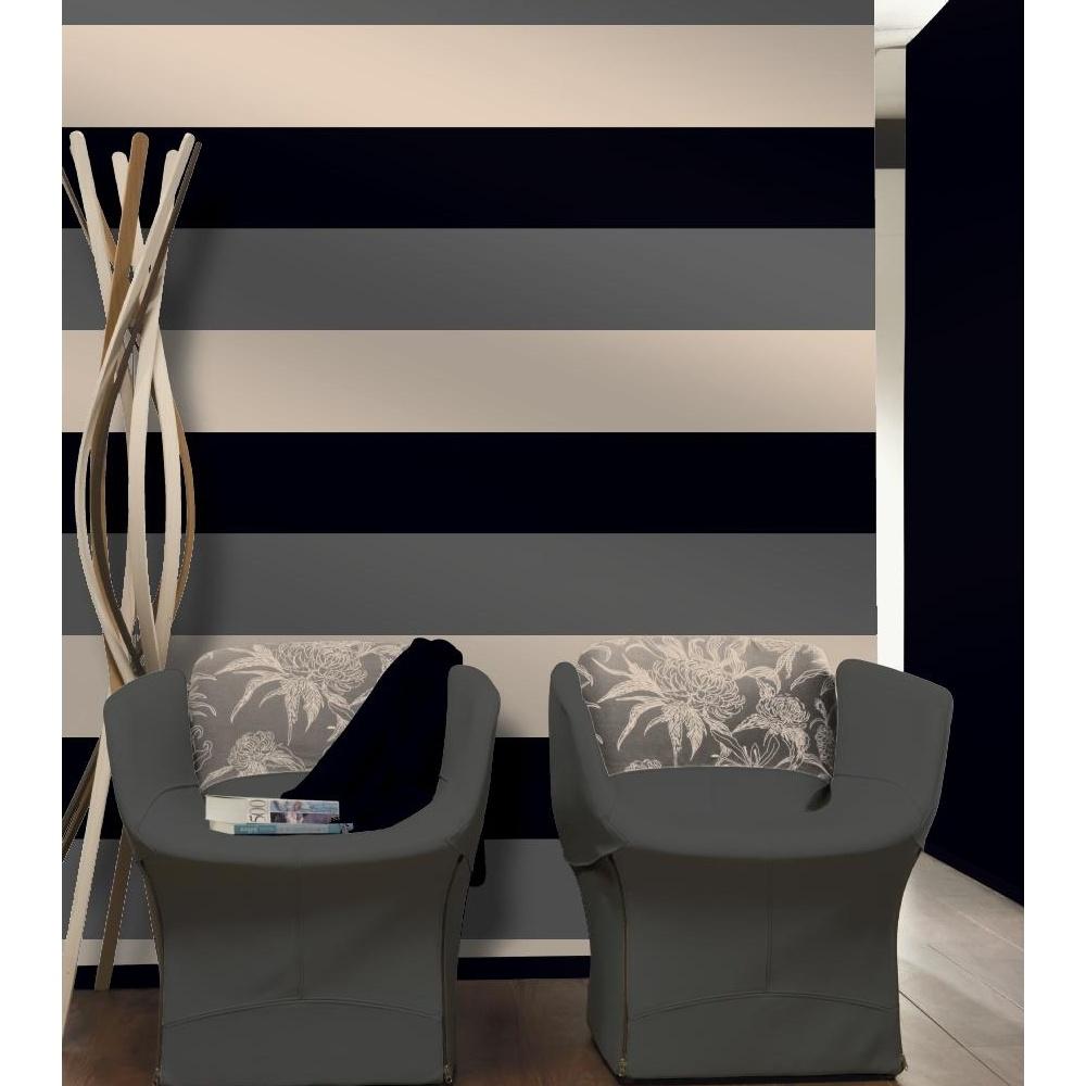 Direct stripe 3 colour striped motif textured designer for Striped vinyl wallpaper