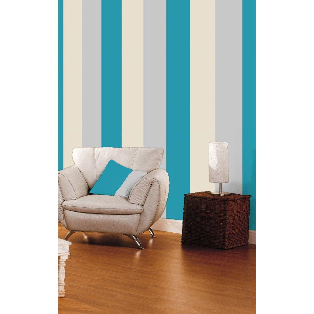 Direct Stripe 3 Colour Motif Textured Designer Vinyl