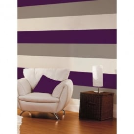 Direct Stripe 3 Colour Striped Motif Textured Designer Vinyl Wallpaper E40936