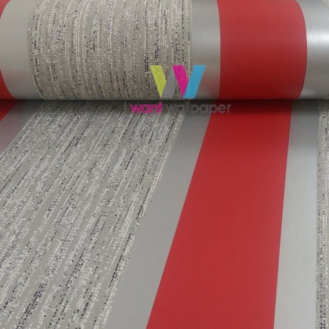 Direct Wallpapers Direct Striped Pattern Metallic Stripe Embossed Textured Vinyl Wallpaper E87510