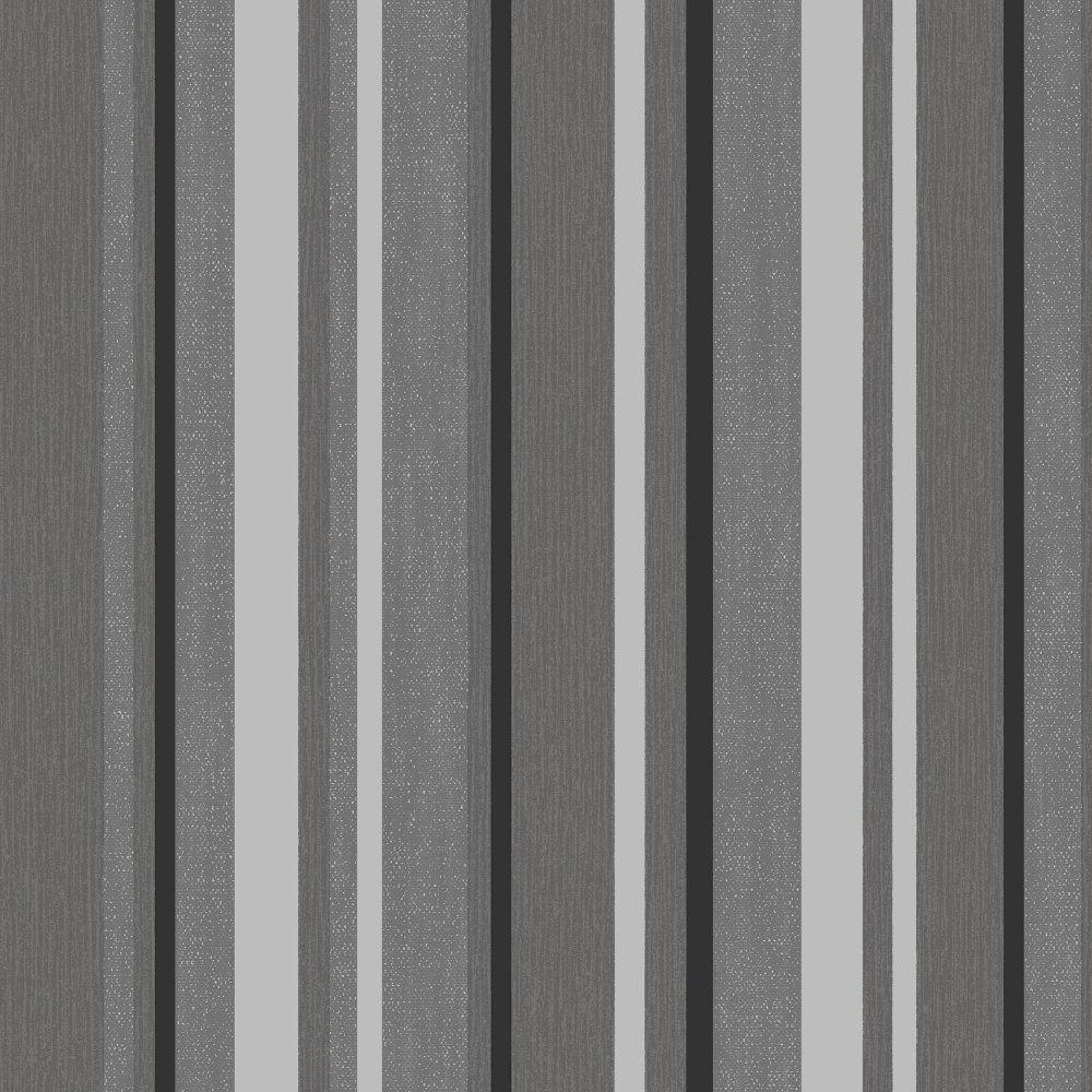 Direct striped textured blown vinyl metallic designer for Striped vinyl wallpaper